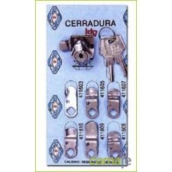 KIT CERRADURA-1 CARTERO CROMADO - Imagen 1