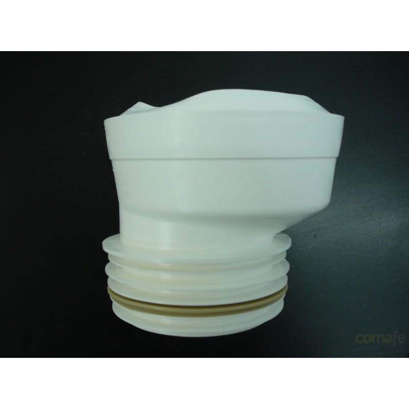 DESATASCADOR INODORO EXCENTRICO PVC GRIS 99/105MM SANEAPLAST - Imagen 1