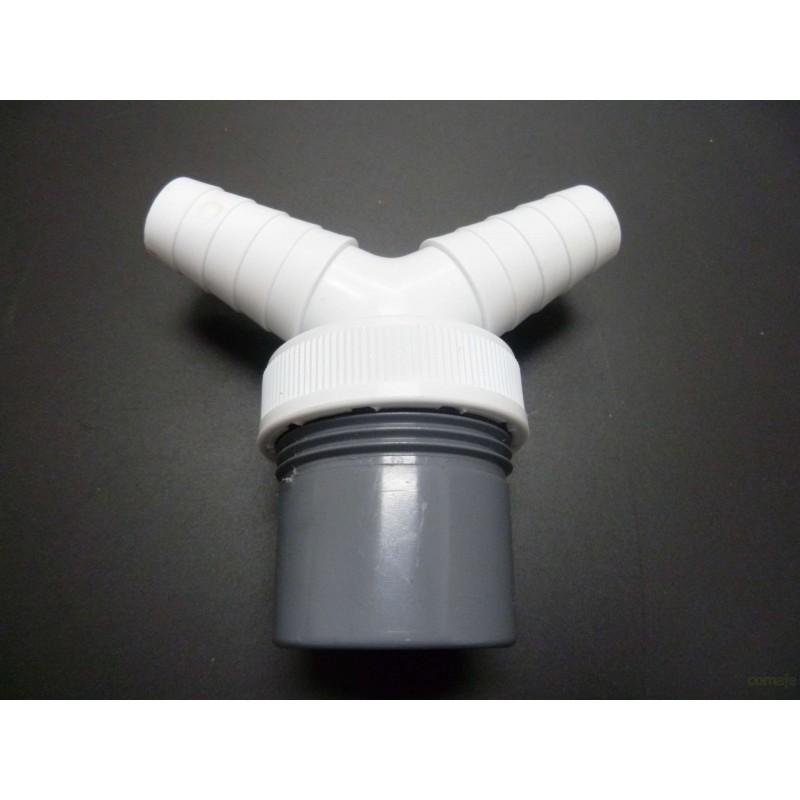 DESAGÜE LAVADORA DOBLE PVC BLANCO/GRIS 40MM SANEAPLAST - Imagen 1