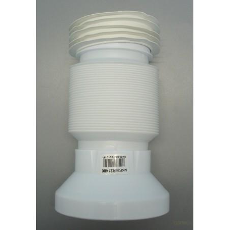 DESAGÜE INODORO EXTENSIBLE PVC GRIS 53CM-90/110MM SANEAPLAST - Imagen 1