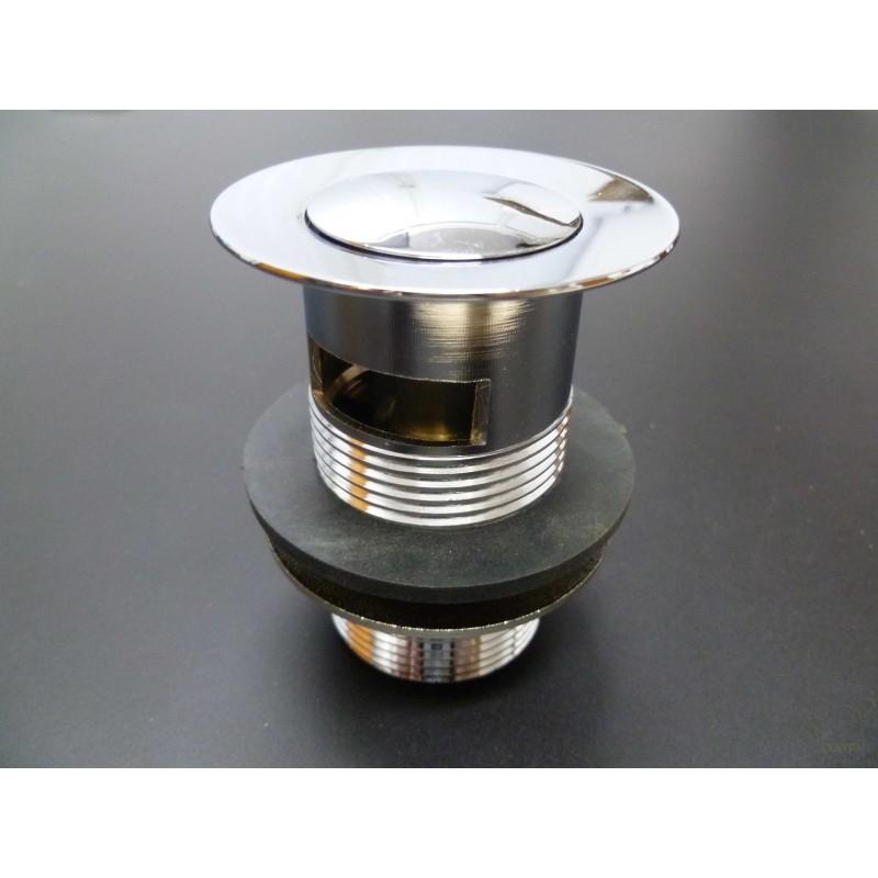"""VALVULA CLICK-CLACK PLASTICO CROMADO 11/4"""" - Imagen 1"""