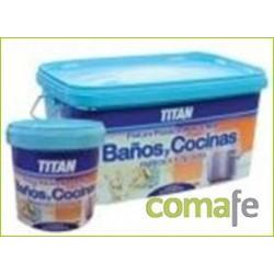 PINTURA PLASTICA MATE BLANCO 750ML TITAN COCI/BAÑO 026000234 - Imagen 1