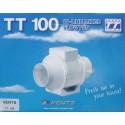 EXTRACTOR EN LINEA PLASTICO BLANCO TT 100MM - Imagen 1