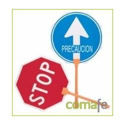 PALETA STOP/PASO MANGO PLASTICO 4053 - Imagen 1