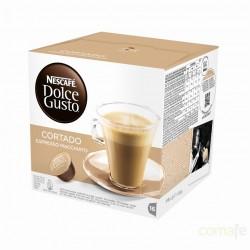 CAPSULA CAFE CORTADO  NESCAFE DOLCE GUSTO 16PZ - Imagen 1