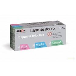 LANA ACERO ALMOHADILLA 25GR SURTIDAS 2FINA+2MEDIA+2GRUESA - Imagen 1