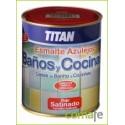 ESMALTE AZULEJOS COCINAS-BAÑOS BLANCO SATINADO 750ML 1400 - Imagen 1