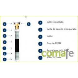 LATIGUILLO SANITARIO H3/8-H1/2 25CM MAX 110: 20BAR AENOR - Imagen 1