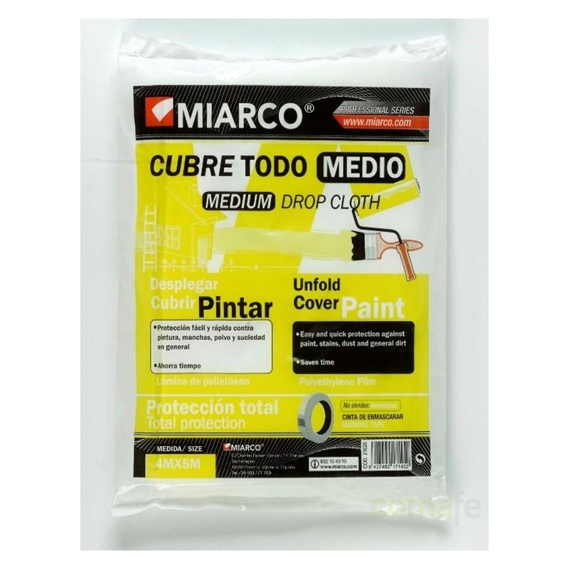 PLASTICO POLIETILENO CUBRETODO MEDIO 4X5M. 21626 - Imagen 1