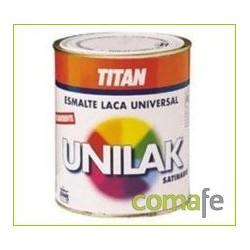 ESMALTE LACA AL AGUA SATINADO UNILAK NEGRO 1401 750ML - Imagen 1