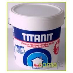 PINTURA PLASTICA INTERIOR MATE TITANIT BLANCA 4LT 029190004 - Imagen 1