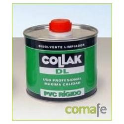 DISOLVENTE LIMPIADOR TUBERIA PVC INCOLORO BOTE 500ML COLLAK - Imagen 1