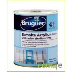 ESMALTE ACRILICO BRILLANTE BLANCO PERMANE 750ML BRUGUER 1001 - Imagen 1