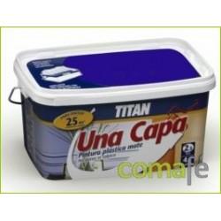 PINTURA PLASTICA MATE TITAN UNA CAPA 2,5LT ROJO INTENSO - Imagen 1