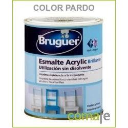 ESMALTE ACRILICO BRILLANTE PARDO 250ML BRUGUER 1033 - Imagen 1