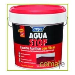 IMPERMEABILIZANTE CAUCHO ACRILICO C/FIBRAS GRIS 5KG AGUASTOP - Imagen 1