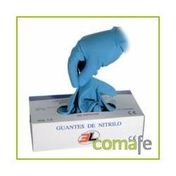 GUANTE NITRILO DESECHABLE S/EMPOLVAR  100 UNID TS UNITRIL LP - Imagen 1