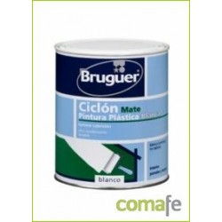 PINTURA PLASTICA MATE BLANCO 4L CICLON - Imagen 1