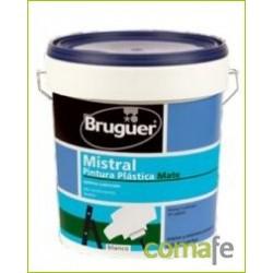 PINTURA PLASTICA MATE BLANCO 15L MISTRAL - Imagen 1