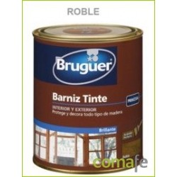 BARNIZ TINTE SINTETICO BRILLANTE ROBLE 250ML - Imagen 1