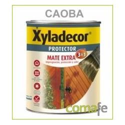 PROTECTOR PARA MADERA MATE 3 EN 1 CAOBA 750 ML XYLADECOR - Imagen 1