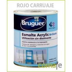ESMALTE ACRILICO BRILLANTE ROJO CARRUAJES 250ML BRUGUER 1029 - Imagen 1
