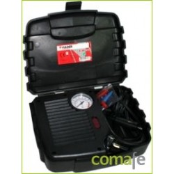 COMPRESOR MINI 12V 250PSI EN MALETIN CON MANOMETRO MADEIRA - Imagen 1
