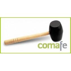 MAZA DE GOMA NEGRA 500GR M/MADERA CARAS PLANAS 65905 RUBI - Imagen 1