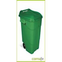 CONTENEDOR PLASTICO CON RUEDAS 120 LITROS VERDE 424007 TAYG - Imagen 1
