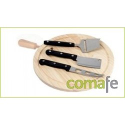 TABLA COCINA REDONDA CON MANGO 24 CM. - Imagen 1