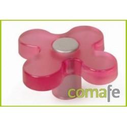 POMO MUEBLE INFANTIL ABS FLOR MAGENTA 49MM - Imagen 1