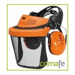 CASCO FORESTAL G500 CON PANTALLA REJILLA NARANJA - Imagen 1