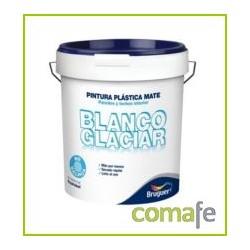 PINTURA PLASTICA MATE BLANCA INTERIOR GLACIAR 15 LTS BRUGUER - Imagen 1