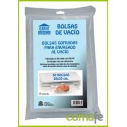 BOLSA PARA VACIO MALLA 20X30 50UNDS GARHE - Imagen 1