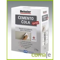 CEMENTO COLA GRIS POLVO INTER/EXTE BEISSIER ESTUCHE 2KG 623 - Imagen 1