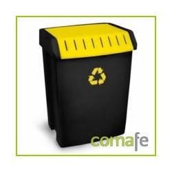 CONTENEDOR PLASTICO RECICLAJE 50LT AMARILLO (40X35,5X57,5) - Imagen 1