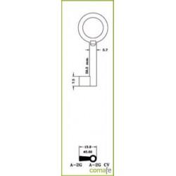 LLAVE ARMARIO LLAVE ARMARIO LATON A-0G(L) - Imagen 1