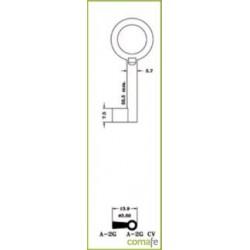 LLAVE ARMARIO LLAVE ARMARIO LATON A-2G(L) - Imagen 1