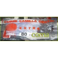 CUBRECAMILLA 80 CM TRANSPARENTE CUBRE CAMILLA CRISTAL CON VIVO 0,80 CM. - Imagen 1