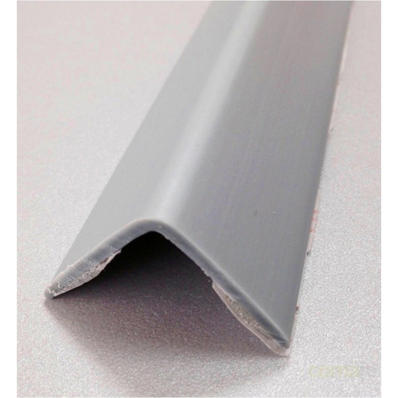 ESQUINERO PVC ADHESIVO ALUMINIO 25X25X2,60MT - Imagen 1