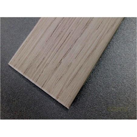 PERFIL PVC PLAQUETA PLANO ADHESIVO ROBLE POLAR 35MMX1MT - Imagen 1