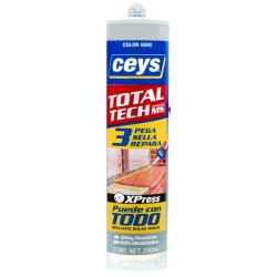 ADHESIVO SELLADOR TOTAL TECH XPRESS GRIS CART 290ML CEYS - Imagen 1