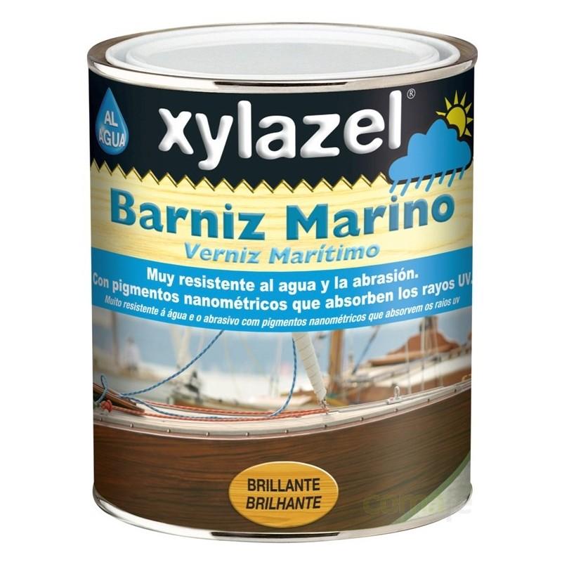 BARNIZ MARINO BRILLANTE BASE AGUA TRANSPARENTE 750ML - Imagen 1