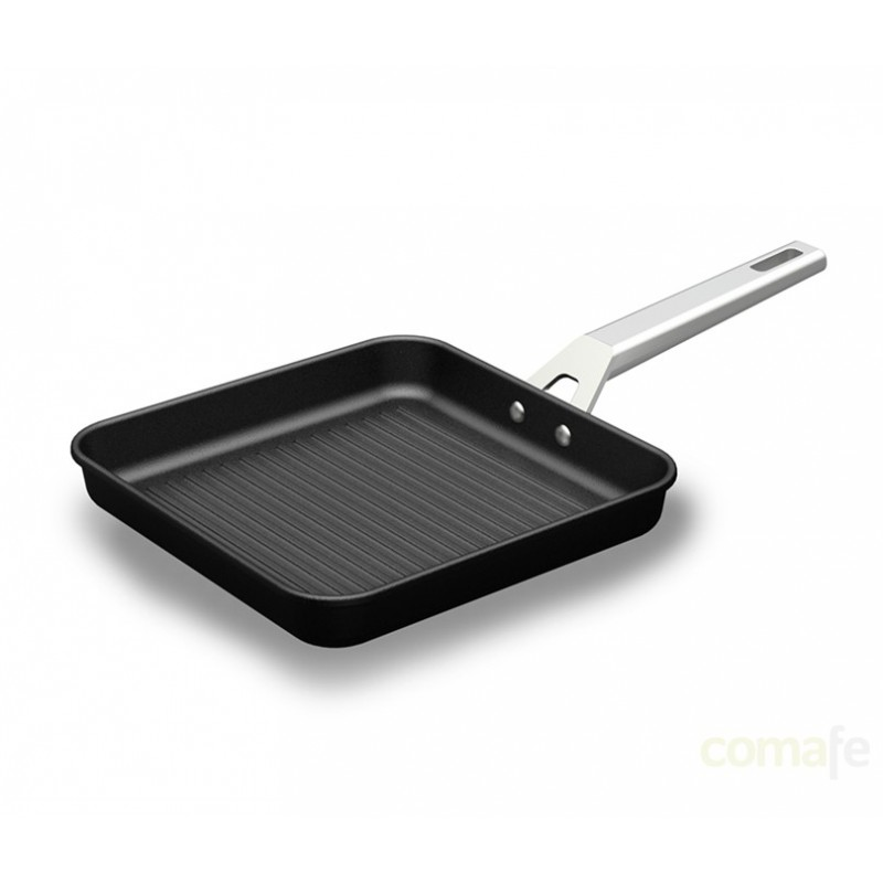 GRILL RAYAS ALUM FUND INDUC 23X23CM AIRE - Imagen 1