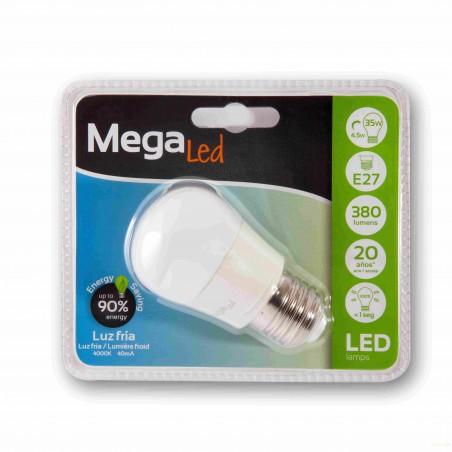 LAMPARA ESFERICA LED E27 4,5W 380LM 4000K MATE - Imagen 1