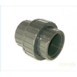 """ENLACE PVC PRESION 16BAR ENCOLAR 3 PIEZAS ROSCA H 50X1 1/2"""""""