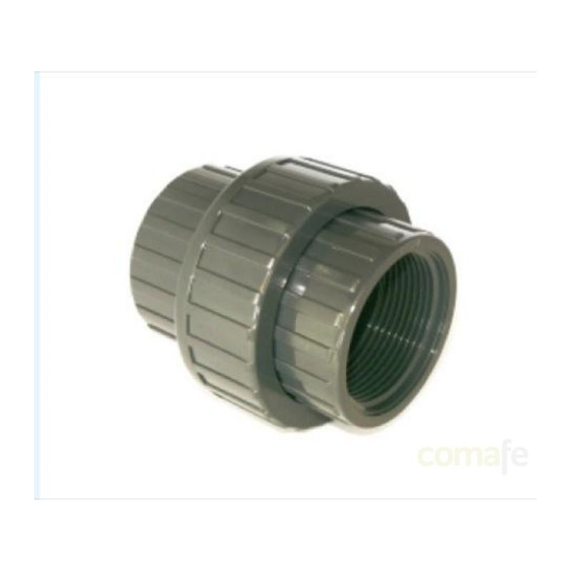 """ENLACE PVC PRESION 16BAR ENCOLAR 3 PIEZAS ROSCA H 50X1 1/2"""" - Imagen 1"""