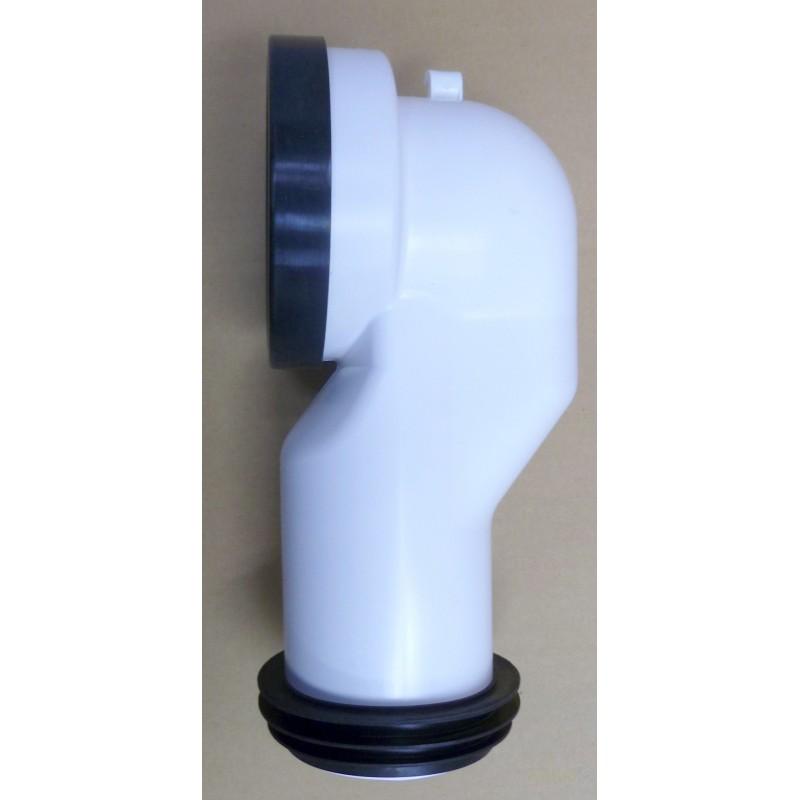 DESAGÜE INODORO SALIDA DUAL PVC GRIS 90/110MM SANEAPLAST - Imagen 1