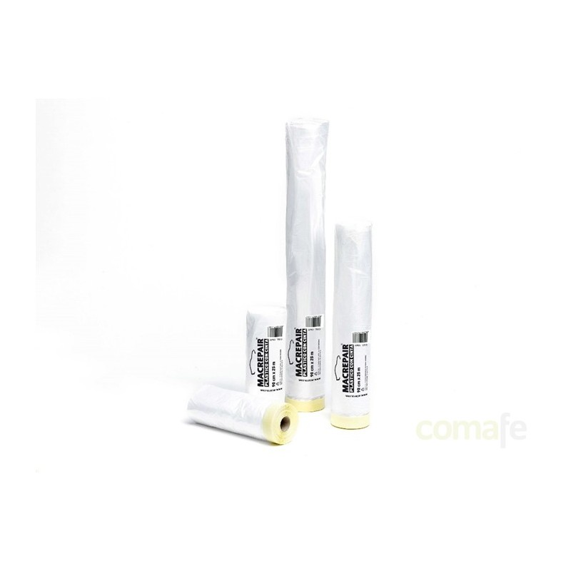 PLASTICO CON CINTA KREPP  90CMX22,5MT 23620 - Imagen 1