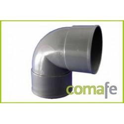 CODO PVC EVACUACION H-H 87º Ø 40 - Imagen 1